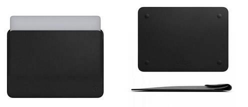 Папка конверт Wiwu Skin Pro2 Leather для MacBook 15,4'' black, фото 3