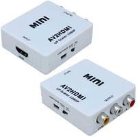 Конвертор AV в HDMI, 3 гнезда RCA (IN) - гнездо HDMI (OUT)