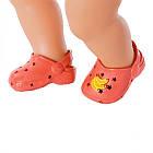 Обувь для куклы BABY born - Праздничные сандалии кроксы с значками (красные) Zapf Creation  828311-3, фото 2