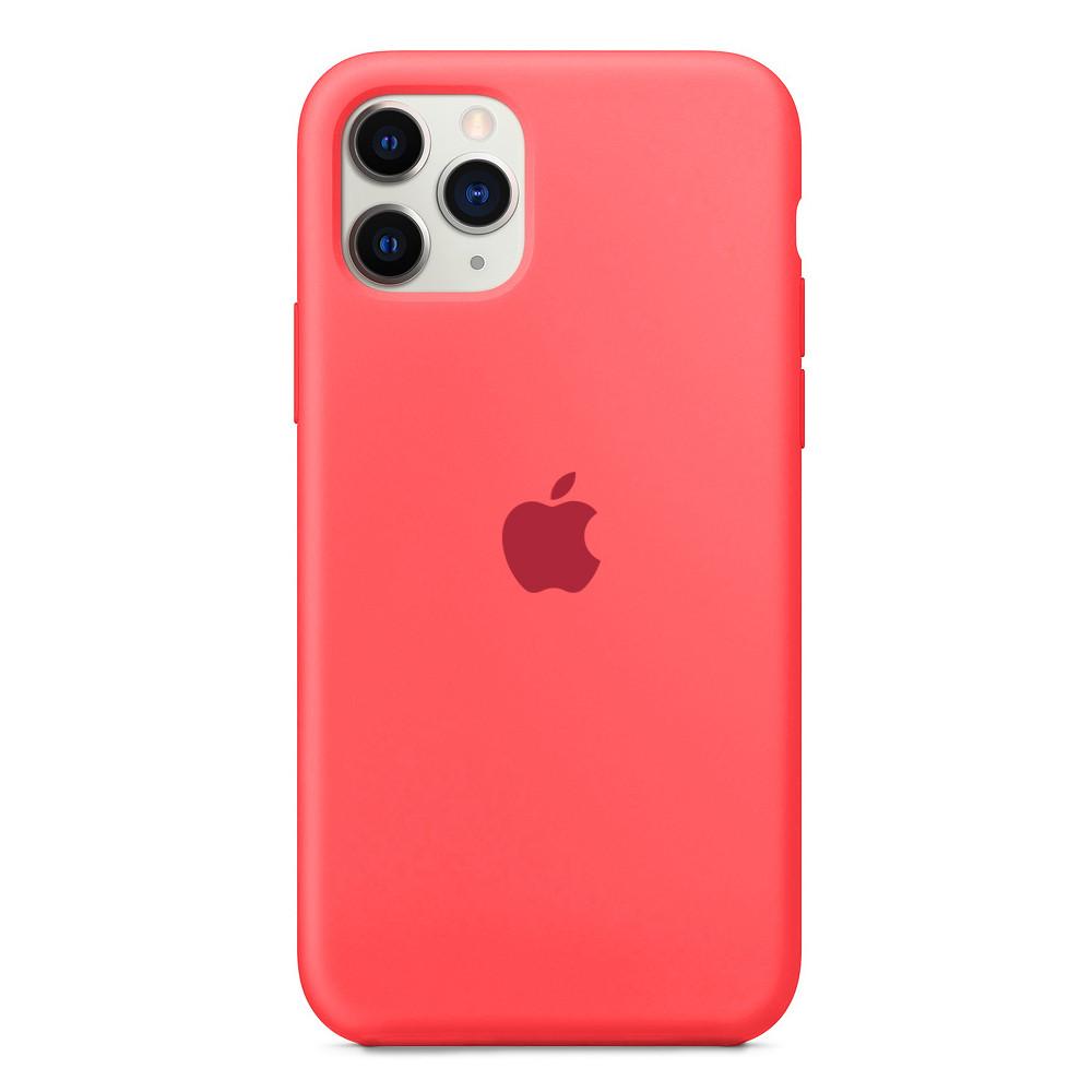 Чохол накладка xCase для iPhone 11 Pro Max Silicone Case Full яскраво-рожевий