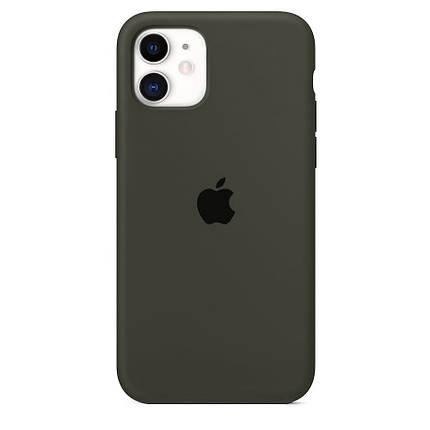 Чехол накладка xCase для iPhone 11 Silicone Case Full темно-оливковый, фото 2