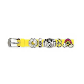 Силіконовий Браслет Biojoux BJB003 Charms Bracelet MIX 3 Yellow (4667)