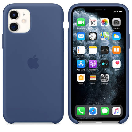 Чохол накладка xCase на iPhone 11 Silicone Case alaskan blue, фото 2