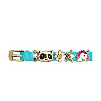 Силіконовий Браслет Biojoux BJB007 Charms Bracelet MIX 7 - Blue gold (4772)