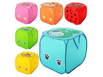 Кошик для іграшок,в кульку,45х45см,6 видів №М2508(50)