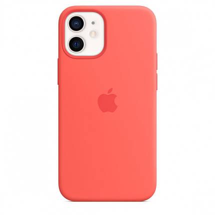 Чехол накладка xCase для iPhone 12/12 Pro Silicone Case Full pink citrus, фото 2