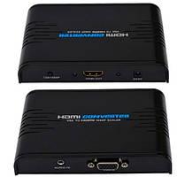 Конвертор VGA в HDMI, гнездо VGA - гнездо HDMI, 1080Р