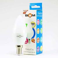 Светодиодная лампа Biom BT-549 C37 4W E14 3000К матовая