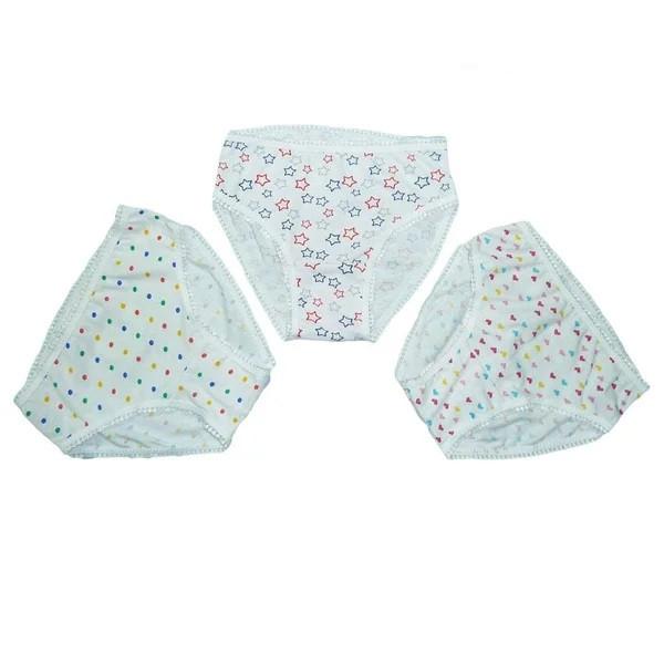Трусики для девочек с ажурной резинкой, от 1-6 лет (кулир)