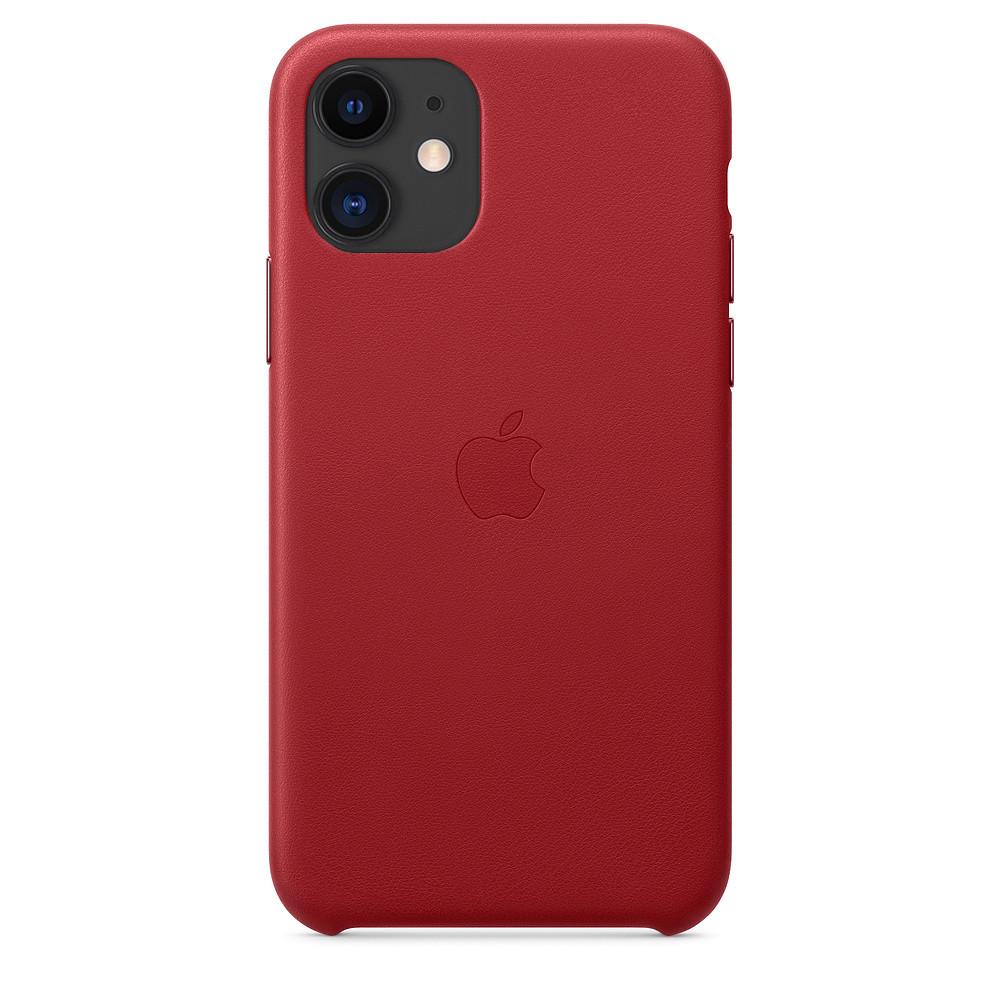 Чехол накладка на iPhone 11 good Leather Case (product) red