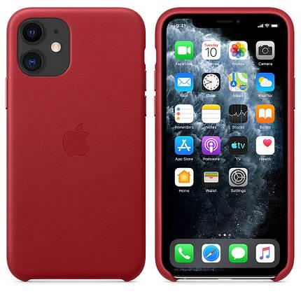 Чехол накладка на iPhone 11 good Leather Case (product) red, фото 2