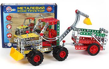 "Конструктор метал. ""Трактор з причеп"",""Технокомп"" №4876(10)"