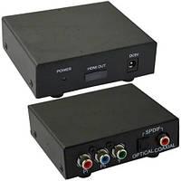 Конвертор AV в HDMI, вход - гнездо Tosling, 3 гнезда RCA component, выход - гнездо HDMI