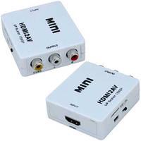 Конвертор HDMI в AV, гнездо HDMI (IN) - 3 гнезда RCA (OUT)