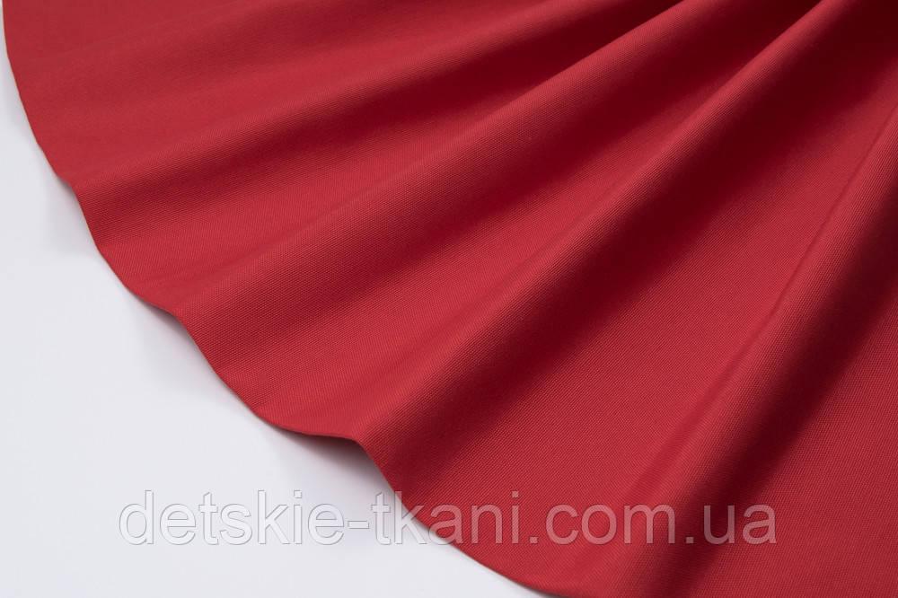 Лоскут однотонної тканини Duck червоного кольору 50 * 45 см