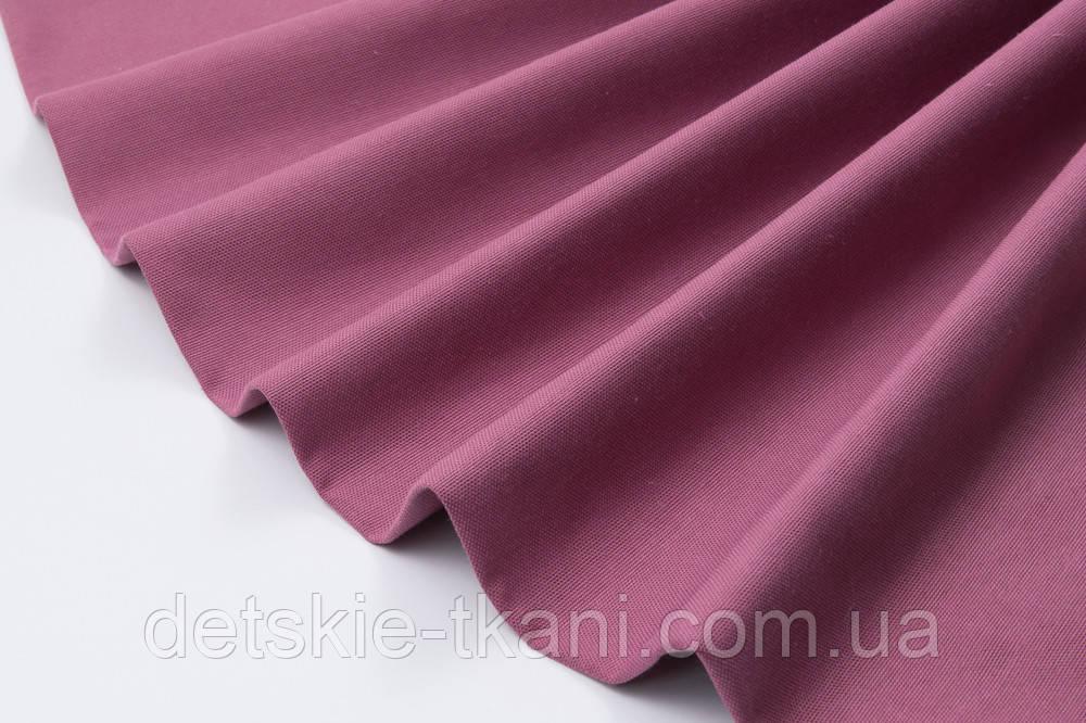 Лоскут однотонной ткани Duck цвета сухой сирени 50*45 см
