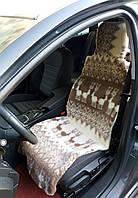 Автомобильный чехол автонакидка из овечьей шерсти меховая накидка авточехол на сидение автомобиля из овчины О1
