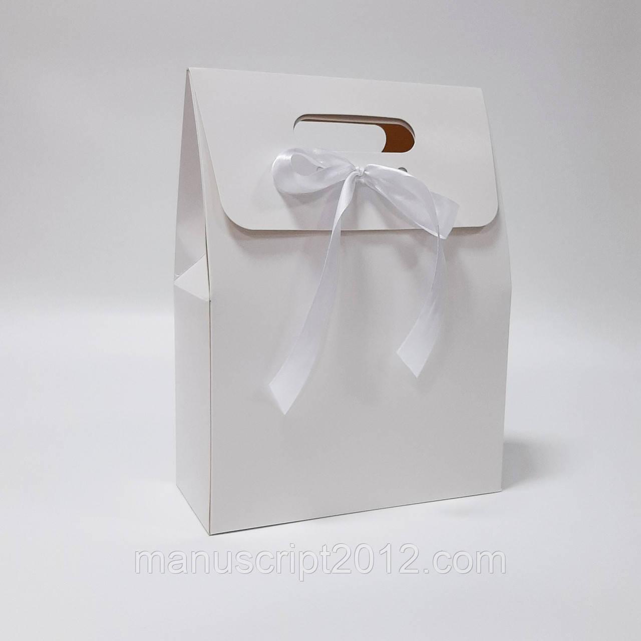 Пакет подарунковий білий 220х100х300 мм.