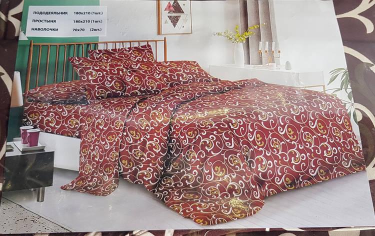 Постельное белье коричневый вензель Лери Макс 20, фото 2