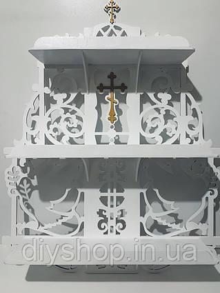 Иконостас на 3 полочки, полка под иконы (плоский)