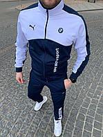 Спортивный костюм в стиле Puma BMW Синий с белым Двунить Весна/Лето/Осень Размеры: S, M, L, XL
