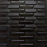 Декоративна стінова 3D панель самоклеюча під облицювальна цегла ЧОРНА КЛАДКА 700х770х7мм