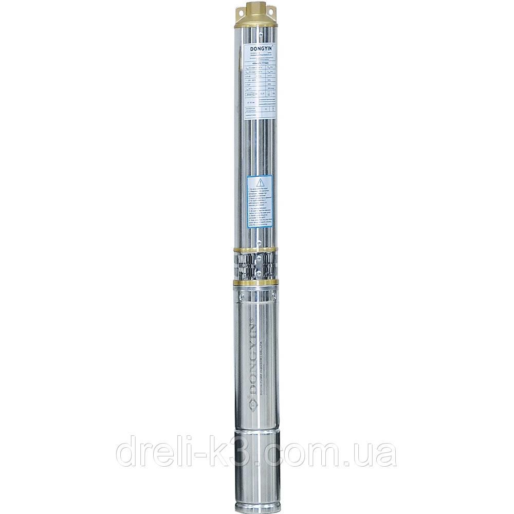 Насос центробежный скважинный 1.1кВт H 77(57)м Q 90(60)л/мин Ø80мм AQUATICA (DONGYIN) (777093)