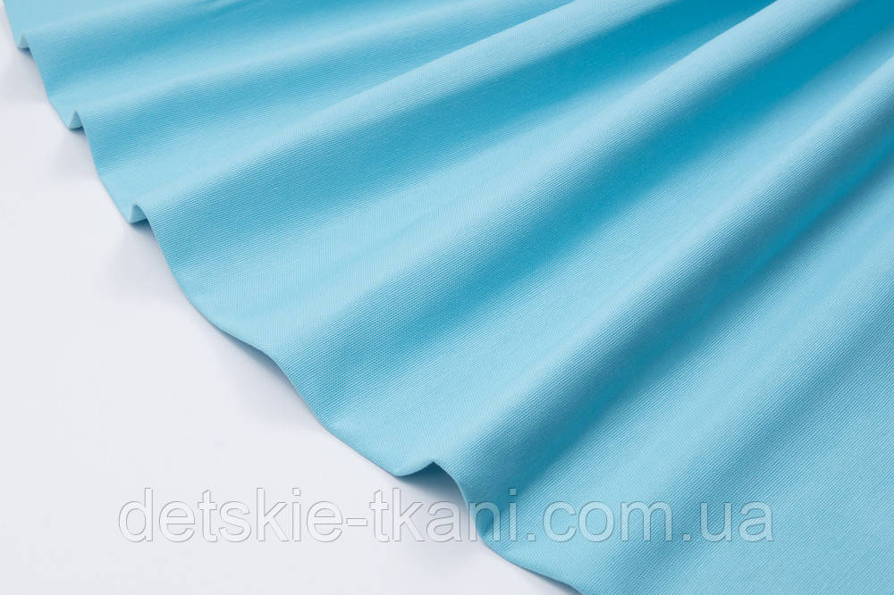 Лоскут однотонной ткани Duck цвет бирюзово-голубой 50*45 см