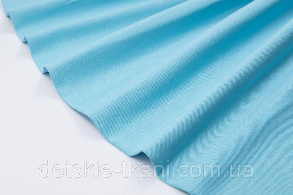 Лоскут однотонної тканини Duck колір бірюзово-блакитний 50 * 45 см