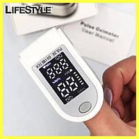 Пульсоксиметр беспроводной Pulse Oximeter +Подарок Маска для лица, многоразовая / Пульсометр оксиметр на палец