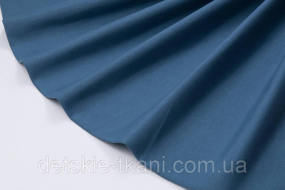 Лоскут однотонної тканини Duck колір темний денім 50 * 45 см