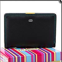 Женский кожаный кошелек  13.5х9.5х2.5 черный, фото 1