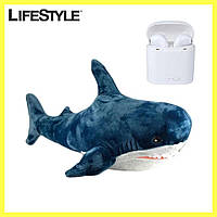 Мягкая игрушка Акула  IKEA 54 см + Подарок наушники i7 TWS