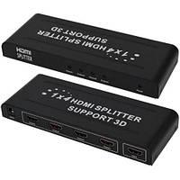Сплиттер HDMI 1x4, металлический корпус, 1.4V, DC-5V