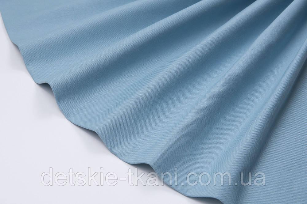 Лоскут однотонной ткани Duck цвет светлый деним 50*45 см