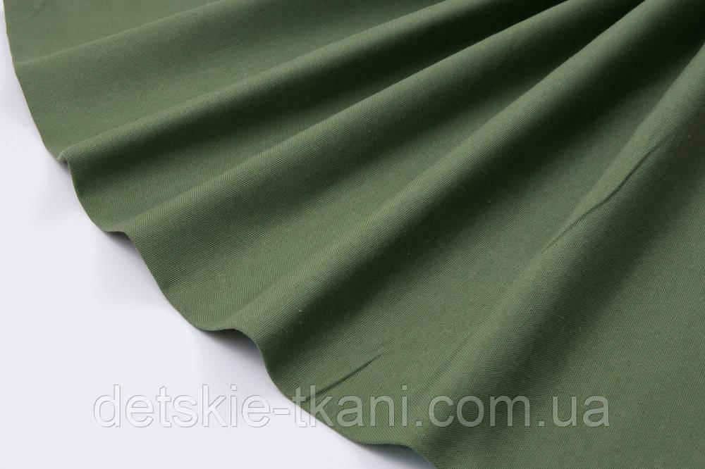 Лоскут однотонної тканини Duck темно-зеленого кольору 50 * 45 см