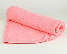 Полотенце махровое 70х140 розовое 430 г/м²