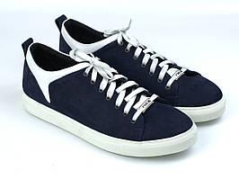 Кросівки-кеди повсякденні чоловічі з синього нубука взуття весна взуття Rosso Avangard Fuoco BluWhit Nub TPR