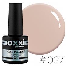Гель-лак Oxxi Professional №027 (світлий коричнево-сірий, емаль), 10мл