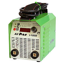 Зварювальний інвертор Атом I-180D без кабелів, без байонетных штекерів