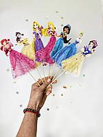 """Большой Топпер в торт """"Принцессы Дисней"""" односторонний, ручная работа КАРТОН-"""