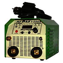 Зварювальний інвертор Атом I-250X з кабелем КГ-25 3+4 м і затисками Binzel