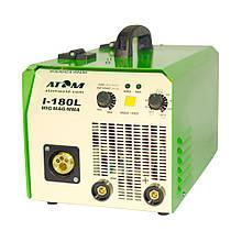 Зварювальний напівавтомат Атом I-180L MIG/MAG з пальником B15 і кабелем маси 2 м Binzel