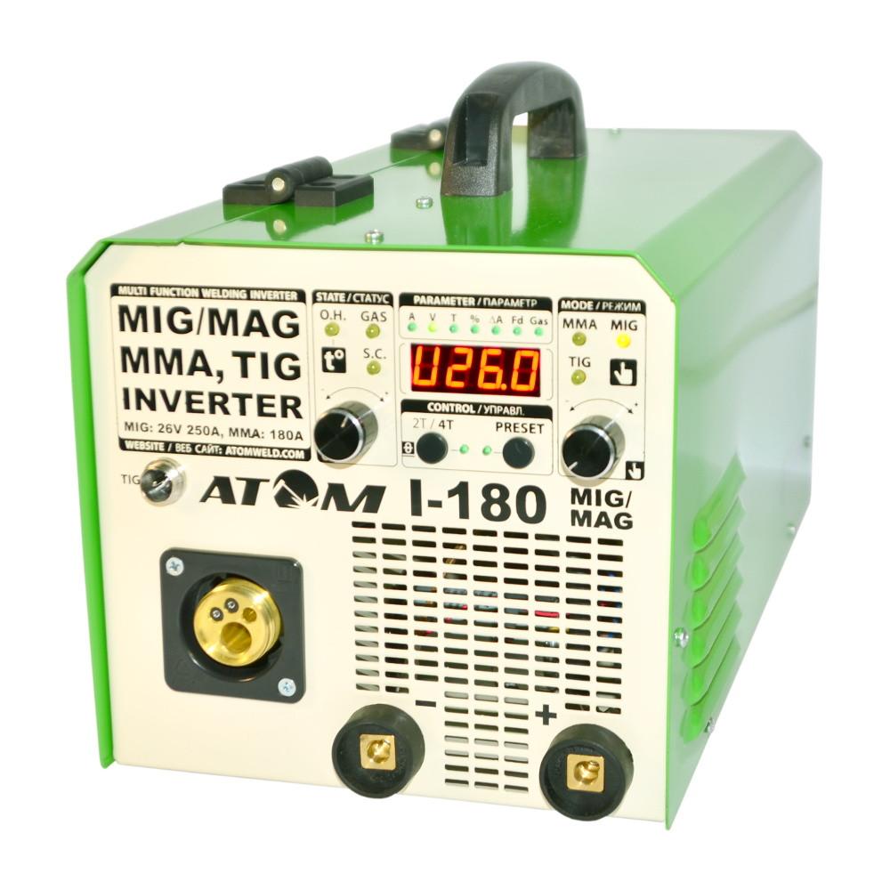 Зварювальний напівавтомат Атом I-180 MIG/MAG з пальником B15 і кабелями 3+2 Binzel