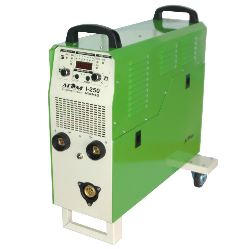 Зварювальний напівавтомат Атом I-250 MIG/MAG, 15 кг, 1 фаза без пальника і кабелів