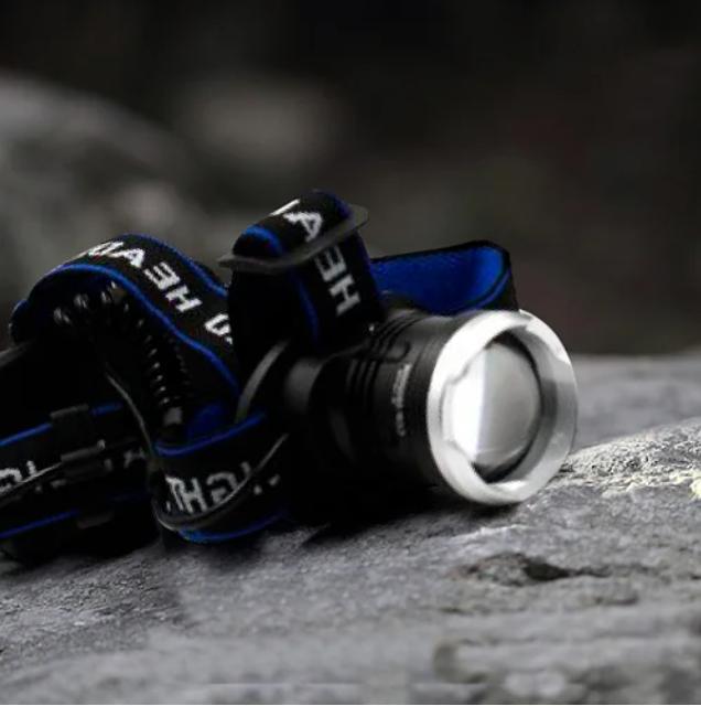 Мощный налобный фонарик Bailong BL T24 - P50 2*18650 battey
