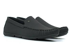 Мокасины черные матовая кожа стильные мужская обувь Rosso Avangard M5 Alberto FlotoMate