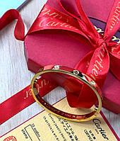 Элегантный браслет Cartier Love золото камни (реплика)