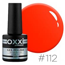 Гель-лак Oxxi Professional №112 (яскравий червоно-оранжевий, неоновий), 10мл