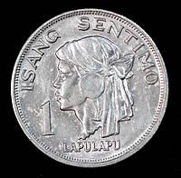 Монета Филиппин 1 сентимо 1969 г.
